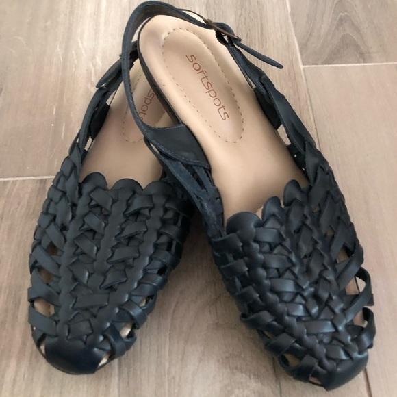 7beb9c32c3a3 Softspots Shoes - SOFTSPOTS Tobago Blue Sandal Ankle Buckle Sz 9N